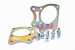 Rear drum trailing arms adapters for disc brakes with two calipers BMW E36/5
