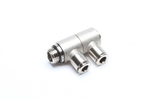 """TA-Technix double angle plug fitting 2 x 6mm with 1/4"""" AG"""